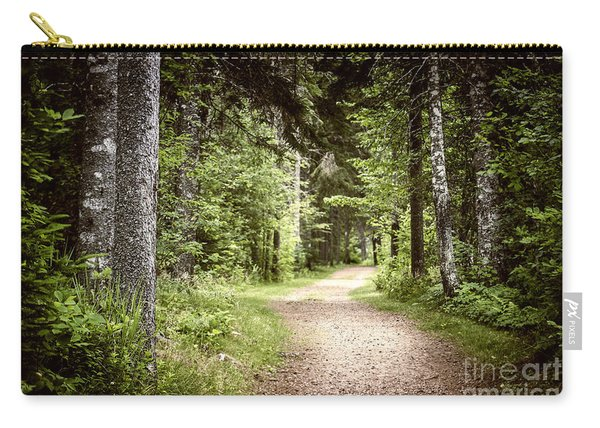 Path In Green Forest Carry-all Pouch