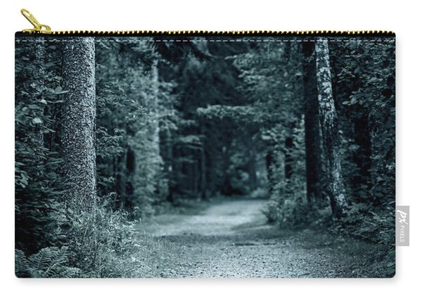 Path In Night Forest Carry-all Pouch
