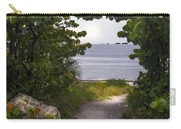 Path Through The Sea Grapes Carry-all Pouch
