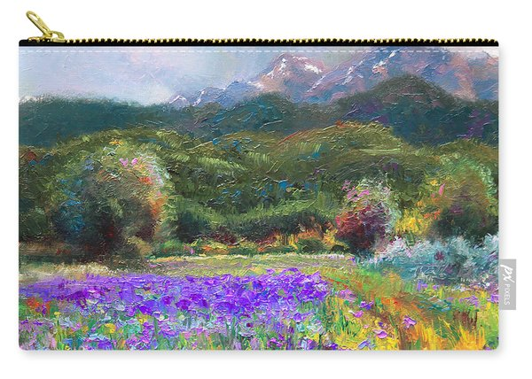 Carry-all Pouch featuring the painting Path To Nowhere by Talya Johnson
