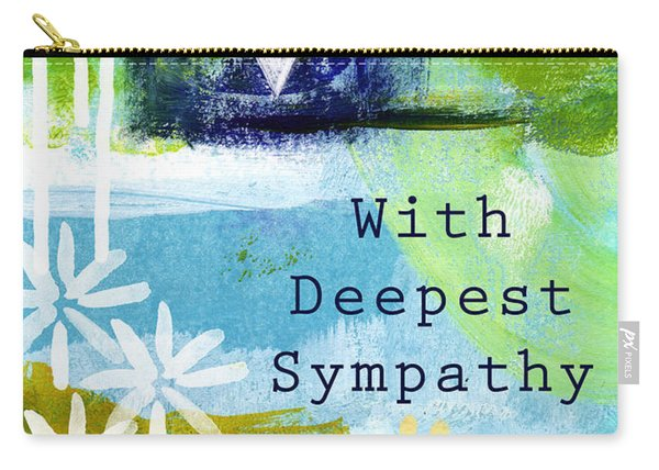 Paw Prints And Heart Sympathy Card Carry-all Pouch
