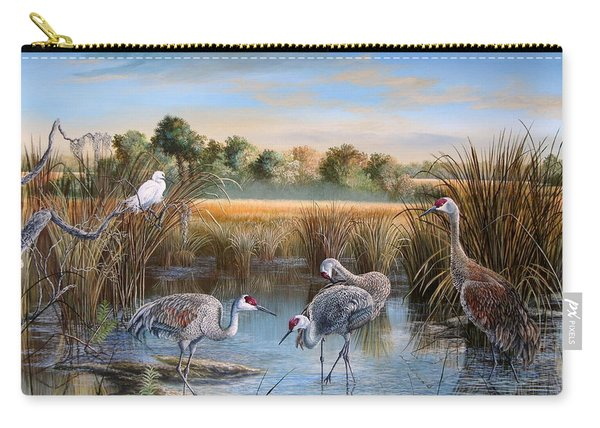 Paynes Prairie Preserve State Park- Day Of The Sand-hill Carry-all Pouch