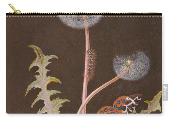 Pd.380-1973 Dandelion With Insects Carry-all Pouch