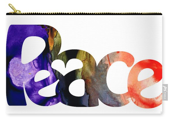Peace Full 1 By Sharon Cummings Carry-all Pouch