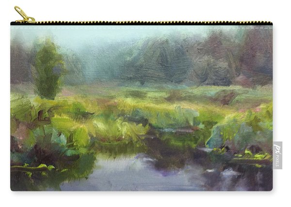 Peaceful Waters Impressionistic Landscape  Carry-all Pouch