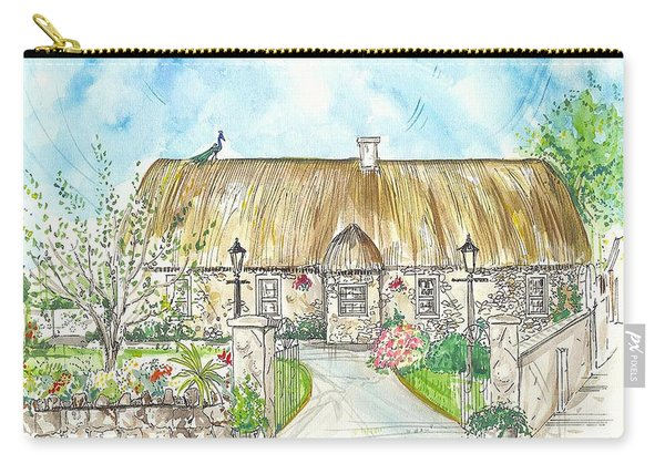 House Portrait Peacock Cottage Kanturk County Cork Ireland Carry-all Pouch