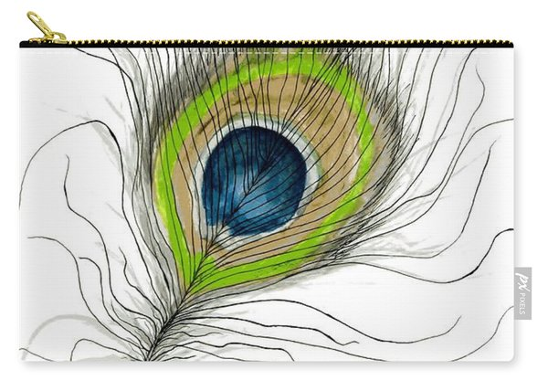 Peacock Feather II Carry-all Pouch