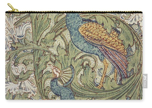 Peacock Garden Wallpaper Carry-all Pouch