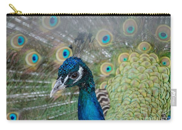 Peacock Portrait Carry-all Pouch