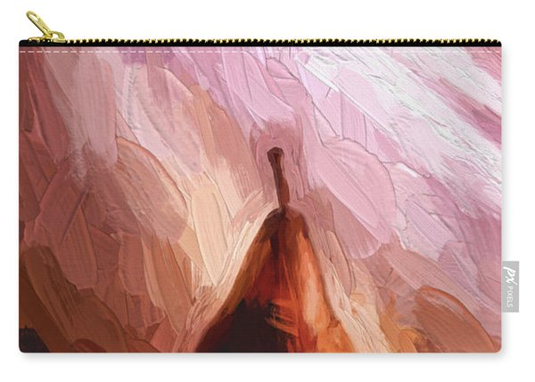 Pear And Light Rays Painterly Effect Carry-all Pouch