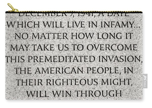 Pearl Harbor Speech - Franklin Delano Roosevelt Carry-all Pouch