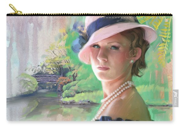 Pearls And Pink Carry-all Pouch