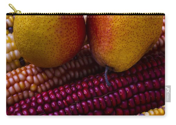 Pears And Indian Corn Carry-all Pouch