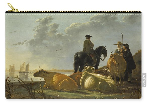 Peasants And Cattle By The River Merwede Carry-all Pouch
