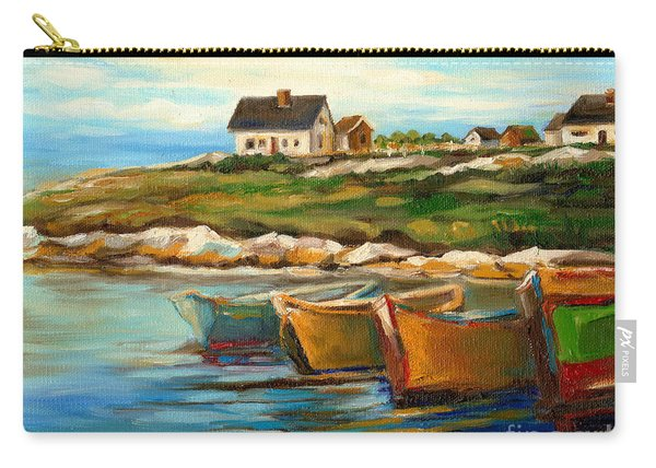 Peggys Cove With Fishing Boats Carry-all Pouch