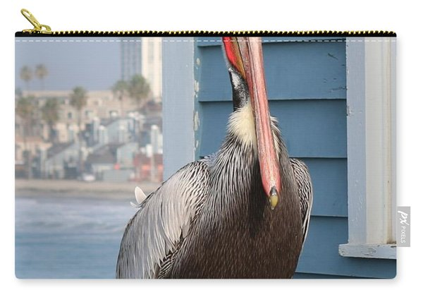 Carry-all Pouch featuring the photograph Pelican - 4 by Christy Pooschke