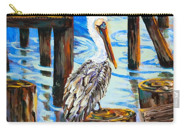 Pelican And Pilings Carry-all Pouch