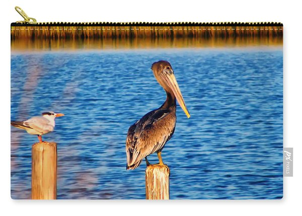 Pelican On A Pole Carry-all Pouch