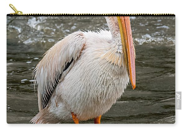 Pelican On A Rock Carry-all Pouch