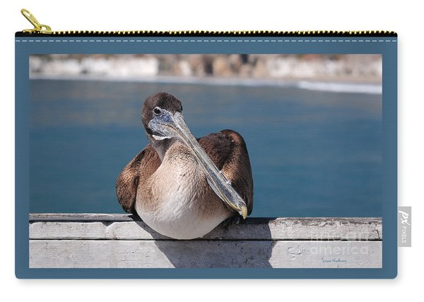 Pelican With Feathers On Its Beak Carry-all Pouch