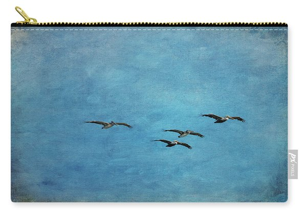 Pelicans In Flight Carry-all Pouch