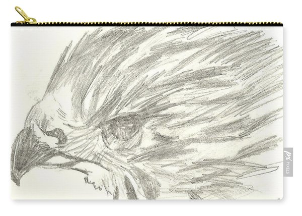 Pencil Drawing Of Hawk Eye Carry-all Pouch