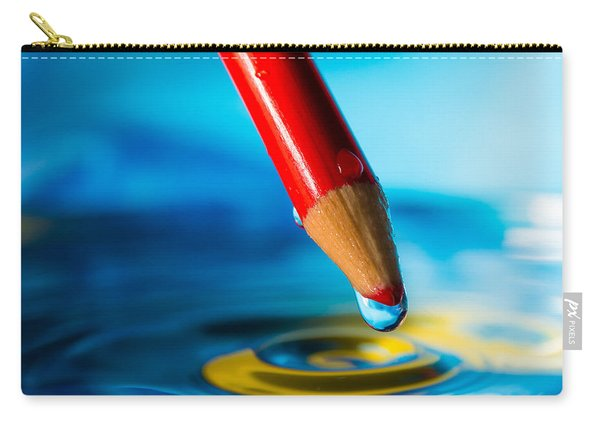 Pencil Water Drop Carry-all Pouch