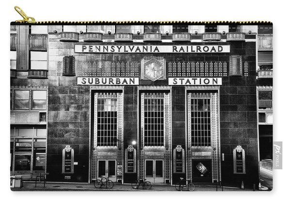 Pennsylvania Railroad Suburban Station In Black And White Carry-all Pouch