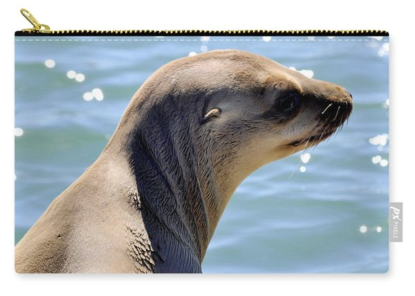 Pensive Sea Lion  Carry-all Pouch