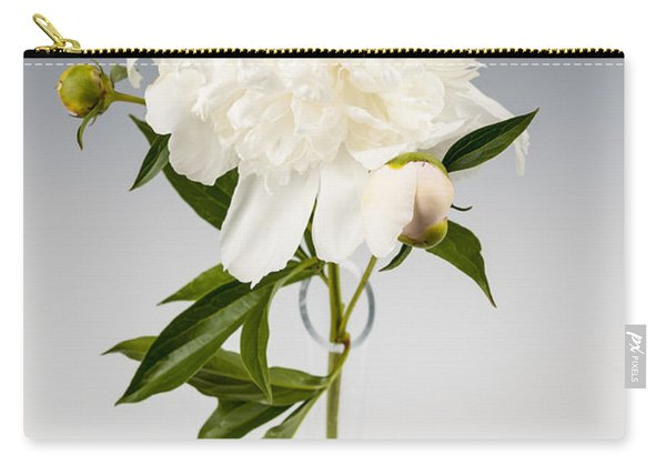 Peony Flower In Vase Carry-all Pouch