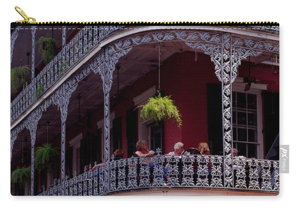 People Sitting In A Balcony, French Carry-all Pouch