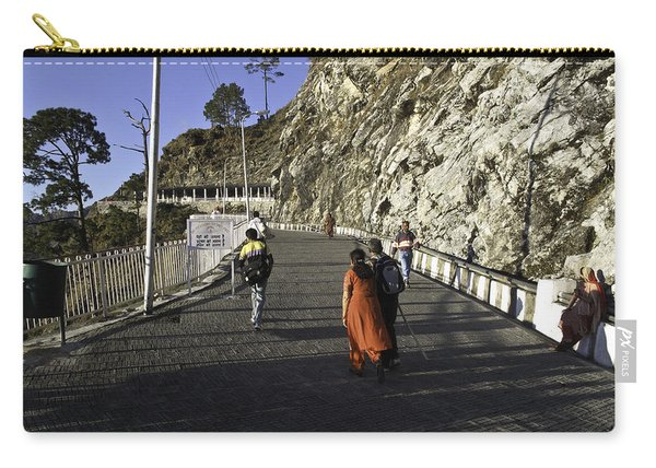 People Walking On The Path Leading To Shrine Of Vaishno Devi Carry-all Pouch