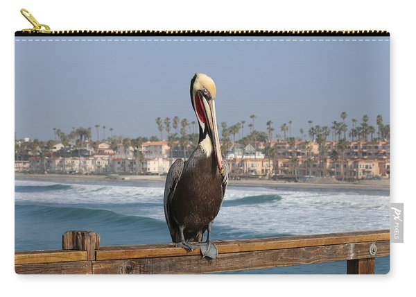 Perched On The Pier Carry-all Pouch