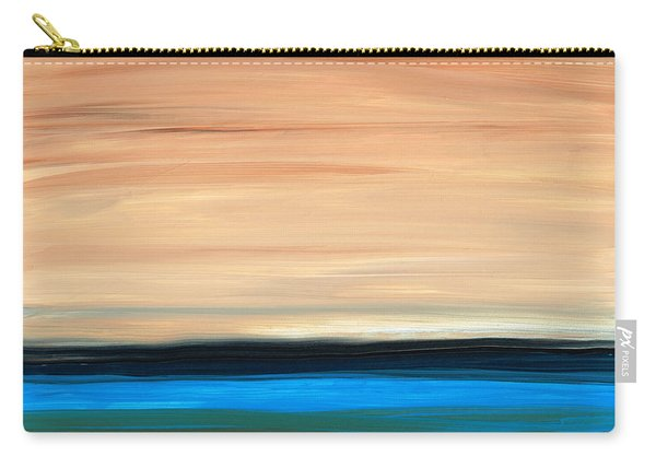 Perfect Calm - Abstract Earth Tone Landscape Blue Carry-all Pouch