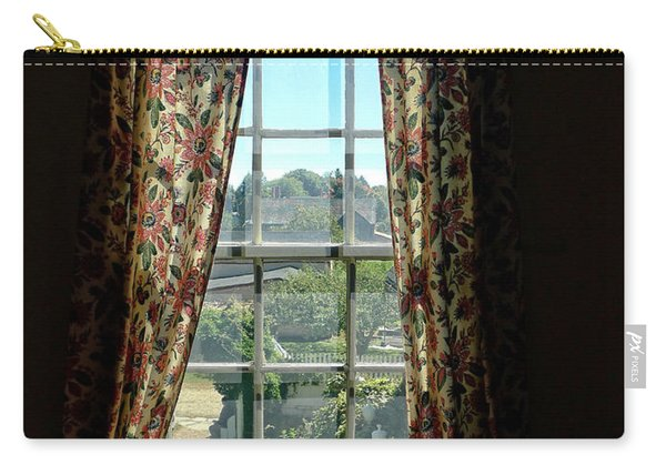 Period Window With Floral Curtains Carry-all Pouch