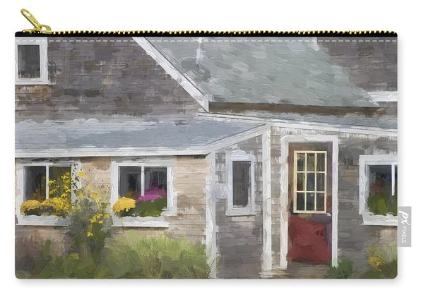 Perkins Cove Maine Painterly Effect Carry-all Pouch