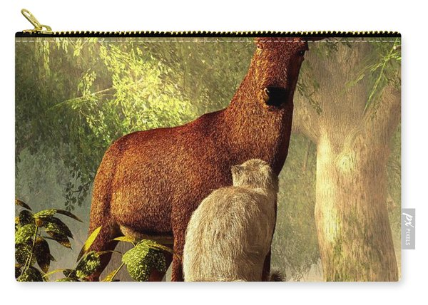 Persian Cat And Deer Carry-all Pouch
