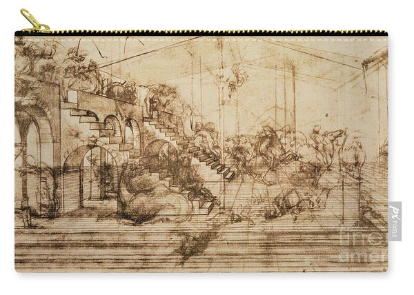 Perspective Study For The Background Of The Adoration Of The Magi Carry-all Pouch