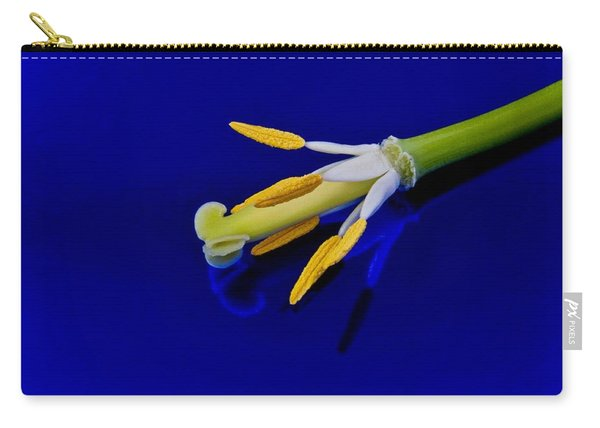 Petal-less Flower On Bright Blue Carry-all Pouch