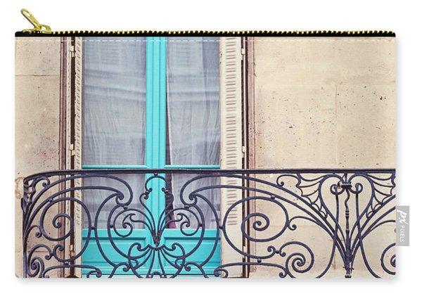 Petit - Parisian Balcony  Carry-all Pouch