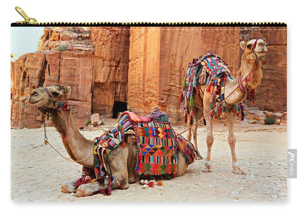 Petra Camels Carry-all Pouch