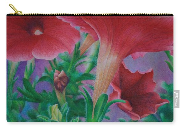 Petunia Skies Carry-all Pouch