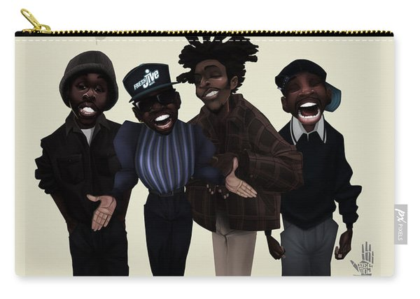 Carry-all Pouch featuring the digital art Pharcyde -passing Me By 1 by Nelson dedos Garcia