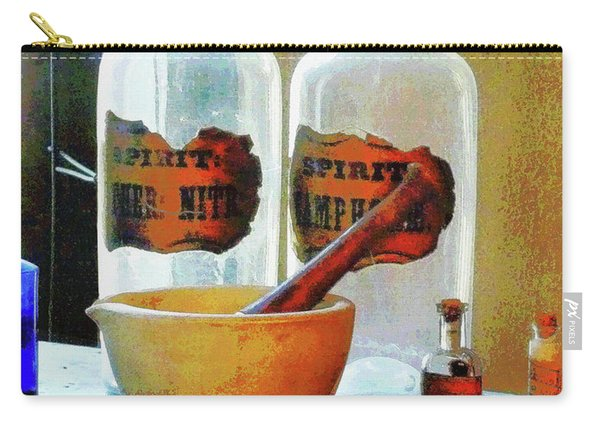 Pharmacist - Mortar And Pestle With Bottles Carry-all Pouch