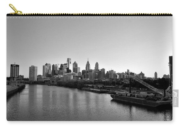 Philadelphia Black And White Carry-all Pouch