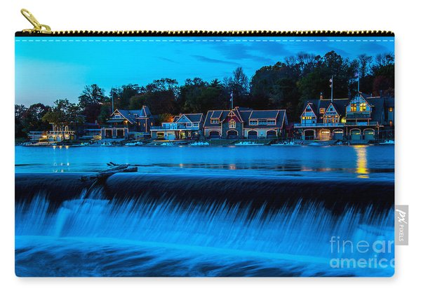 Philadelphia Boathouse Row At Sunset Carry-all Pouch