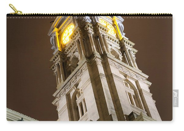 Philadelphia City Hall Clock Tower At Night Carry-all Pouch