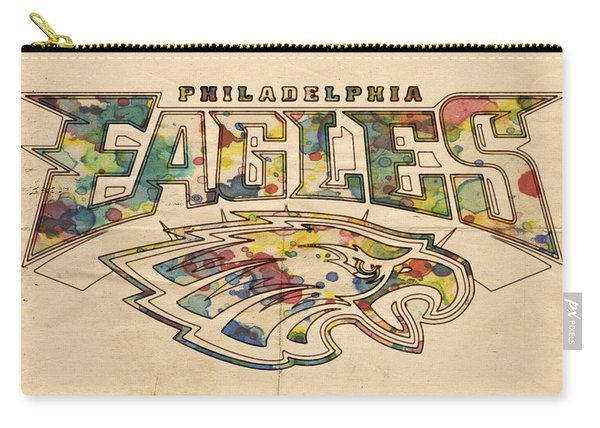 Philadelphia Eagles Poster Art Carry-all Pouch