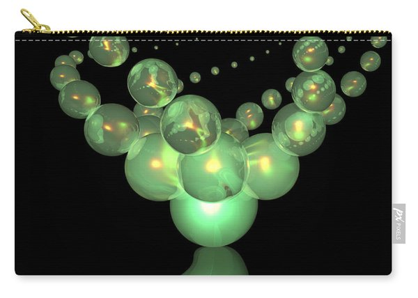 Phosphorescent Glass Twirl  Carry-all Pouch