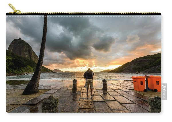 Photographer Shooting The Sunrise Carry-all Pouch